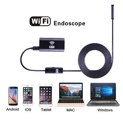 WIFI Endoscope Waterproof Borescope Inspection Camera USB For iPhone Android'