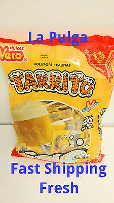 Dulces Vero Tarrito Lollipops Paletas 40 Pcs Fruit Flavored Mexican Candy