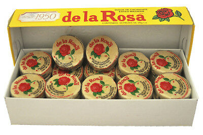 Mazapan De La Rosa Peanuts Confection 30 Pcs Box 1 lb 13.6 Oz  Mexican Candy
