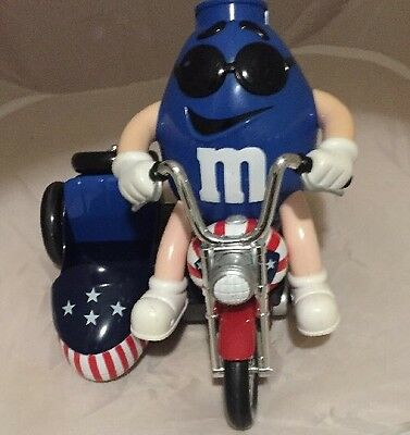 M&M Motorcycle Sidecar Candy Dispenser Toy Collectable