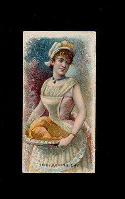 "Duke 1890 Superb Scarce ( Holidays ) Type Card "" Thanksgiving Day -- Holidays """
