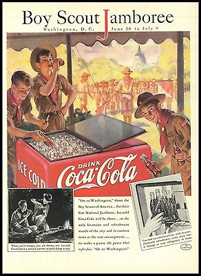 1937 Boy Scout Jamboree Washington DC Coca-Cola AD