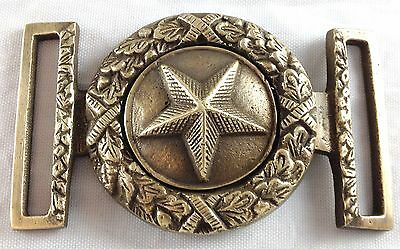 Civil War Style Star With Leaves Military Reproduction 2 Pc Brass Belt Buckle