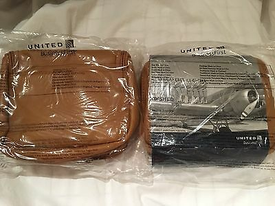 United Airlines  Business First Class 2 Travel Amenity Kits Cowshed New Sealed