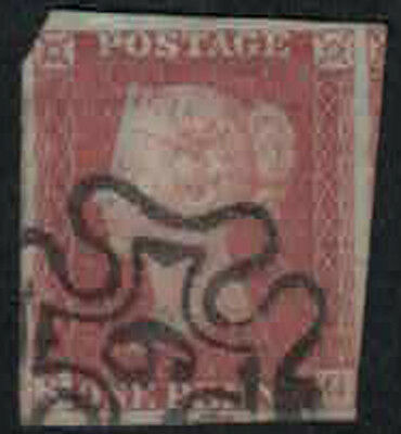 Queen Victoria Maltese Cross Imperf With Number 6 On Black Plate 9 (09-Sg)
