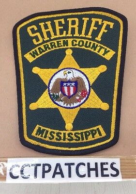 Warren County, Mississippi Sheriff (Police) Shoulder Patch Ms