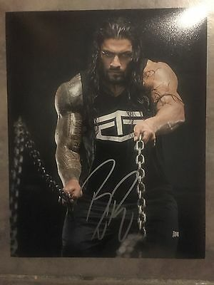WWE Roman Reigns hand signed autograph photo
