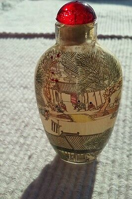 Chinese Inside Painted Glass Bottle (2-1)