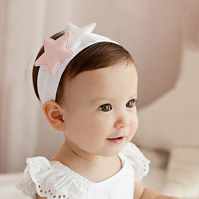 Cute Pattern Bling New Girls Crystal Toddler Prop Hair Band Baby Star Headband