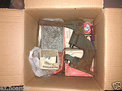 Ex.Hoarder Free Post Industrial Fabric Stud Press+Boxes Of Studs/Eyelets/Buttons