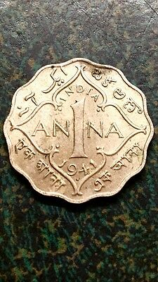 India 1941 1 Anna (George VI)  Quite Scarce Great Design