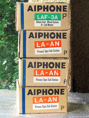 AIPHONE LAF- 3A Deluxe  3 CALL MASTER + 3 LA-AN Substations  w/ Privacy Intercom