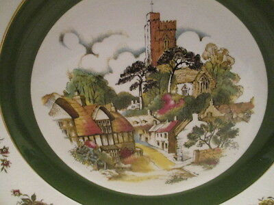 "Ascot Service Ironstone ""Alpine"" Cottage/Church Plate by Wood & Sons - England"