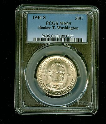 1946-S Booker T. Washington Half Dollar Silver Commemorative 50C PCGS MS 65