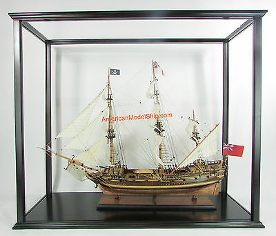 Display Case For Historic Ships Exclude Plexiglass Or Glass - Handcrafted Wooden