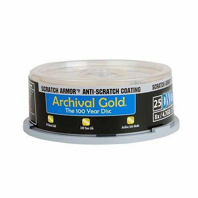 Delkin Archival Gold DVD-R Recordable Disc (Spindle Pack of 25)