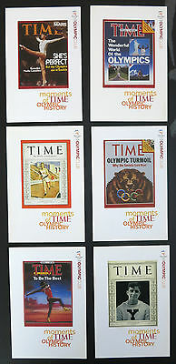 Set of 6 postcards TIME Magazine 'Moments of Time' Olympic history & notepad