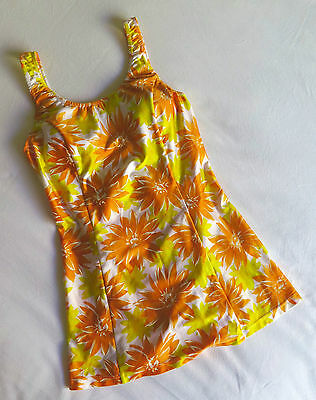 Vintage RETRO Floral One Piece Swimsuit Size SMALL Pin Up