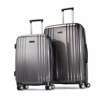 "Samsonite Carbonite Hardsid 2 Pc Luggage Suitcase Set 19"" Carry-on 27"" Spinner"
