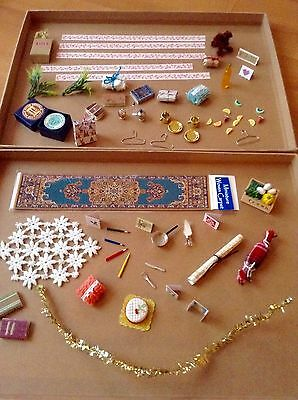 Dolls House Accessories. Mixed Lot Of Miniatures. Some Handmade.