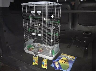 Medium Size Vision Bird Cage with toys and accessories - like brand new