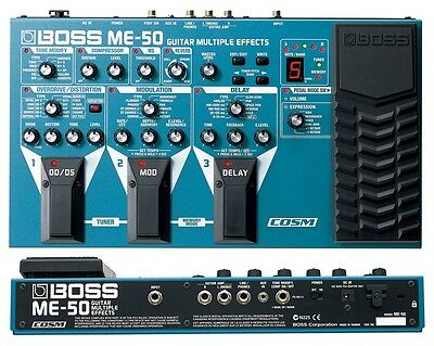 Boss Me-50 Guitar Multi Effects Pedal Processor & Power Supply