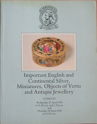 Christie's Important English + Continental Silver, Miniatures, Objects of Vertu