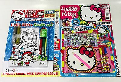 Hello Kitty Magazine X2 Gift Issues - AMAZING FREE GIFTS! (NEW)