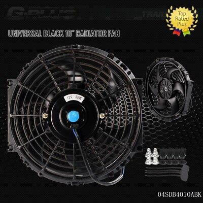 "UK 10"" Universal  Slim Pull Push Racing Electric Radiator Engine Cooling Fan"