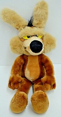 Vintage 24K Mighty Star Wile E Coyote Plush Warner Bros Stuffed 1993 13""