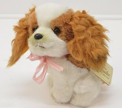 "Vintage Yomiko Puppy Dog Cocker Spaniel Plush Brown 7"" NEW  Korea Stuffed Animal"