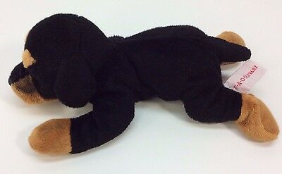 FAO Schwarz ROTTWEILER Puppy Dog Laying Plush Stuffed Animal Toy 11""