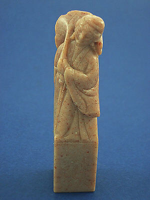 Genuine Vintage Hand Carved Chinese Marble Figurine / Statue Total Weight 61.9Gr
