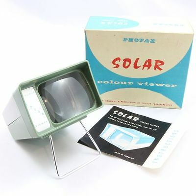 Vintage 1960s Photax Solar Colour Viewer With Original Box and Instructions