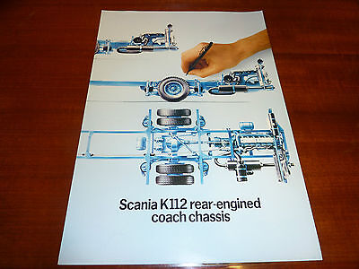 Scania Rear Engined Coach Chassis K112 Bus And Coach Sales Brochure
