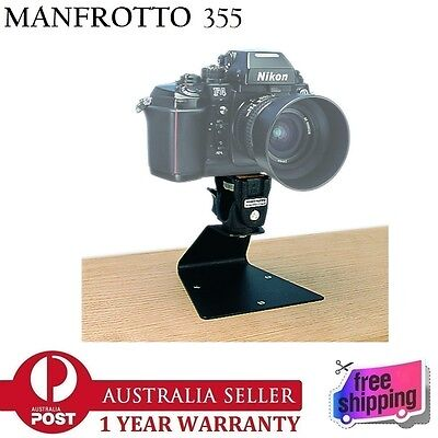 New In Box Manfrotto 355 Table Mount Camera Support 1/4'' with 234 Tilt Head
