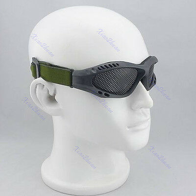 Eye Protective Airsoft Safety Outdoor Tactical Goggles CS Game With Metal Mesh