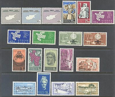 CYPRUS 1960/6 Large Mint Selection (52)