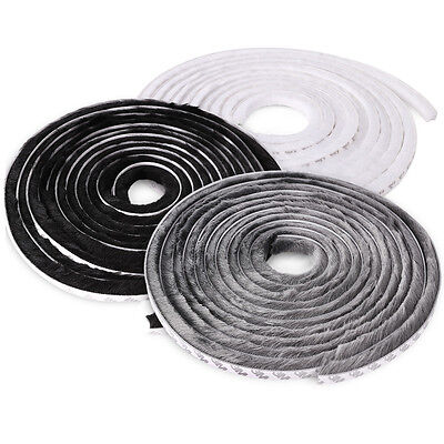 15MM White Grey Door Bottom Brush Sweep Rubber Draught Excluder Seal Stop Strip