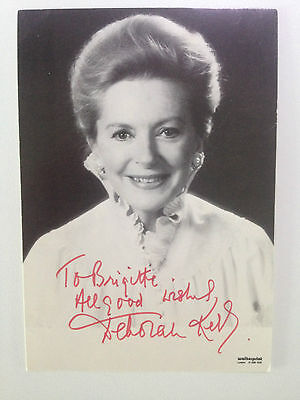 Lot 0212 Signed B&W Photograph of Wonderful British Actress Deborah Kerr