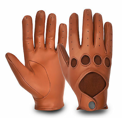 Real Leather Men'S Chauffeur Driving Gloves Exotic Style Retro Classic Vintage