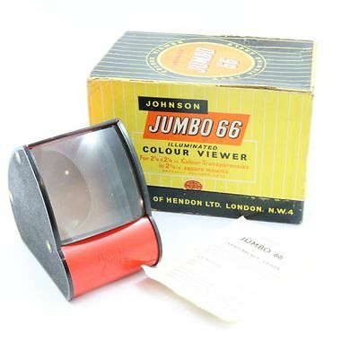 Vintage Johnson Jumbo 66 Colour Viewer With Original Box and Instructions