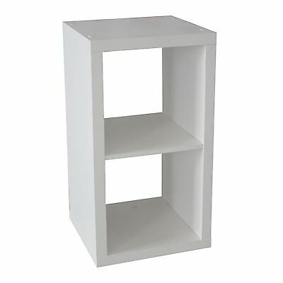 Clever Cube Storage System 1 x 2 White