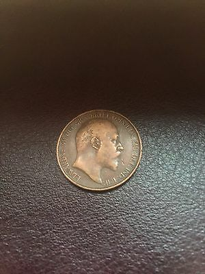Low Tide Halfpenny 1902 Rare Coin