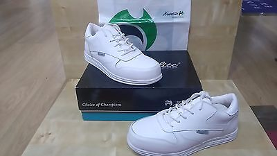 Heneslite Victory Bowls shoes WHITE Size 7 Free UK P & P