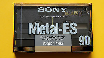 1x SONY METAL-ES 90 Type IV Cassette Tape 1988 + MADE IN JAPAN + NEW & SEALED +