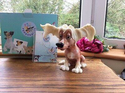 """Pets with Personality """"Chelsea"""" Large Chinese Crested Dog Figurine New Boxed"""