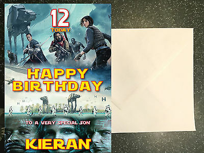 Star Wars Birthday Greeting Free ~ Rogue one star wars birthday card personalised a5 £3.70 picclick uk