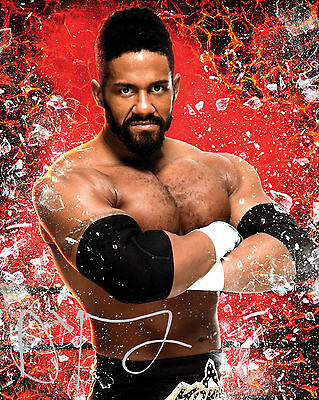 Darren Young #1 (Wwe) - 10X8 Pre Printed Lab Quality Photo (Signed) (Reprint)
