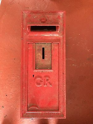 Original Cast Iron GR Wall Mounted Letter Box
